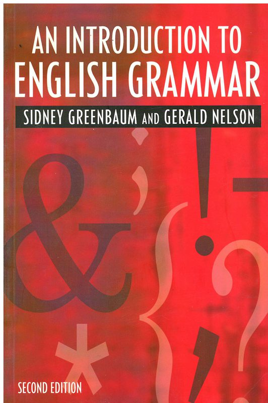 Book Cover: An Introduction to English Grammar